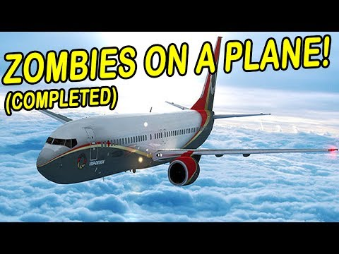 Zombies on a Plane | ZOMBIE SURVIVAL GAME | (Zombies attack plane!)