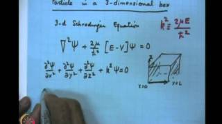 Mod-04 Lec-15 The 1-Dimensional Potential Wall&Particle In A Box