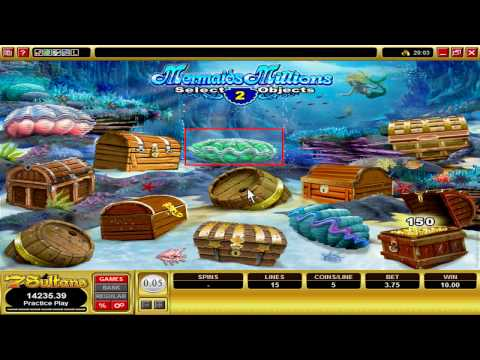 Casino Games:  Mermaids Millions Video Slot at 7Sultans Casino