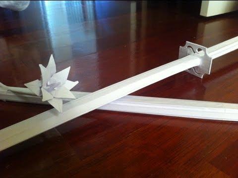 How to Make:Paper Katana *REVISIT* (Speedbuild of Youmu's Ghostblade)