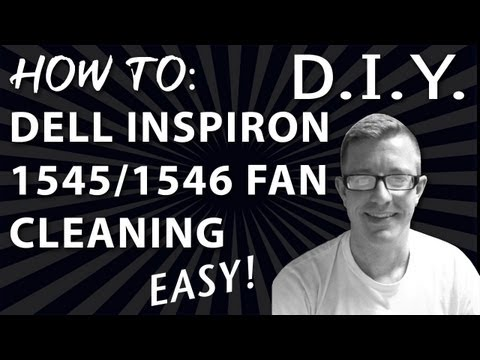 , title : 'Dell Inspiron 1545 or 1546  Fan Cleaning - The Right Way.'