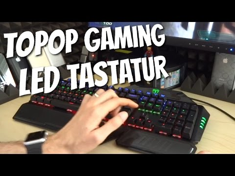 Topop GAMING TASTATUR mit LED Beleuchtung, Anti Ghosting, ... im Review Test