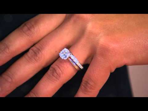 Epiphany Diamonique 100-Facet 2-pc. Bridal Ring Set with Shawn Killinger
