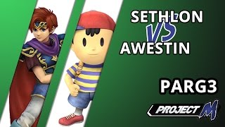 Throw Back set! Before Lunchables and Sethlon had their current power struggle, we had Awestin and Sethlon locked in one. PARG3 GF – Sethlon (Roy) vs Awestin (Ness) only a month prior to LTC2