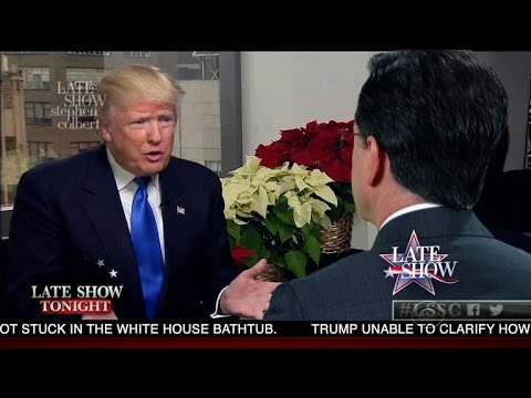 Stephen Colbert and Donald Trump Discuss Russia