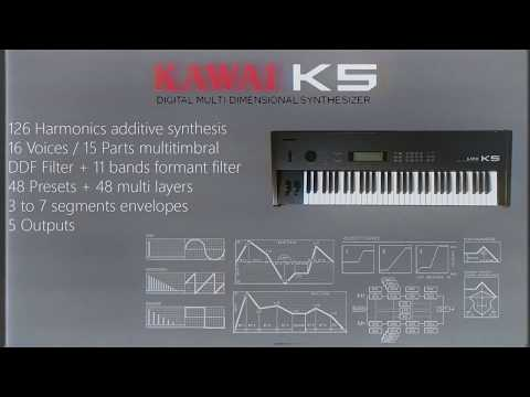 1987 Kawai K5: 13 sounds quick demo