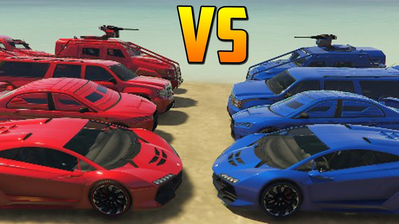 ROJOS vs AZULES – Gameplay GTA 5 Online Funny Moments (GTA V PC)