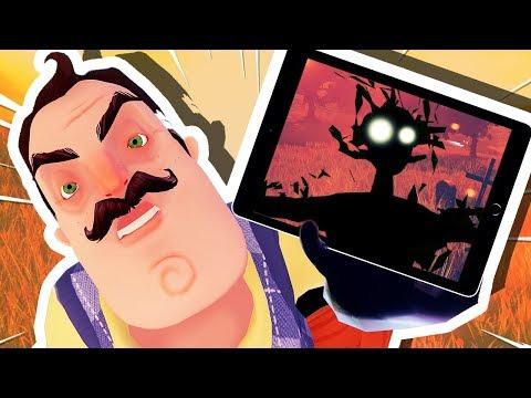 THE NEIGHBOR IS IN MY iPAD!!! (Hello Neighbor Mobile) (видео)