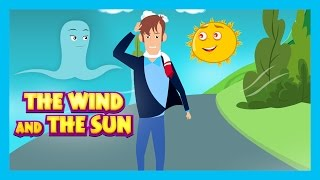 THE WIND AND THE SUN - Kids Hut English Stories || The Sun & The Wind - Traditional English Story