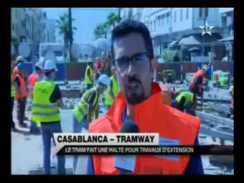 Travaux de raccordement des lignes T1 et T2 du tramway de Casablanca 1