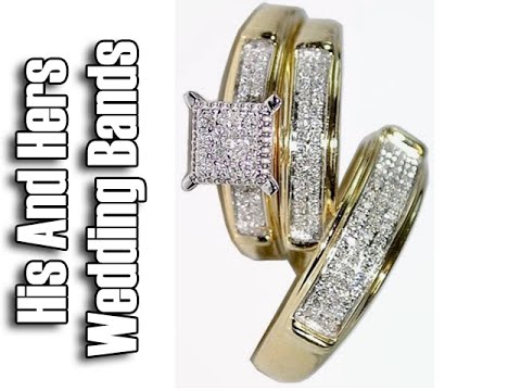 Yellow Gold Trio Wedding Sets - Trio Wedding Ring Sets Yellow Gold