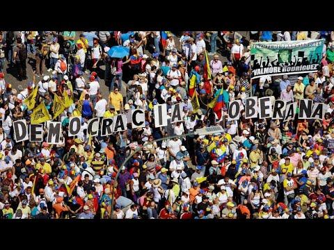 Βενεζουέλα: Μαζική κινητοποίηση κατά του Νικολάς Μαδούρο…