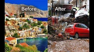 Video Symi Island, before and after the floods, Greece, flash floods, inundations, mudslide, rockslide MP3, 3GP, MP4, WEBM, AVI, FLV November 2017