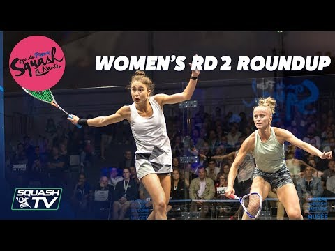 Squash: Open de France - Nantes 2019 - Women's Rd 2 Roundup