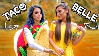 Video 8 DIY Duo Halloween Costumes for Couples, Best Friends + Sisters! Niki and Gabi MP3, 3GP, MP4, WEBM, AVI, FLV Maret 2018