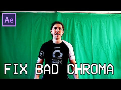 How To Deal With A Bad Chroma Key / Fix Bad Green Screen Tutorial [After Effects]