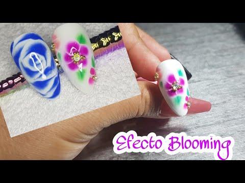 Decoracion de uñas - Efecto blooming Decoración de uñas acrílicas