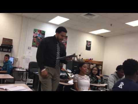 "8th grade teacher covers Kendrick Lamar's ""Humble"""