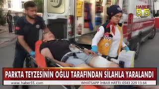 SAMSUN'DA PARKTA SİLAHLI SALDIRI