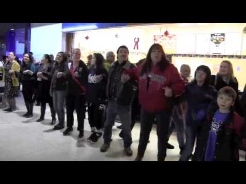 Idle - A round dance flash mob at West Edmonton Mall for Idle No More on December 18, 2012.