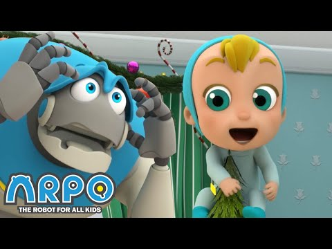 Arpo the Robot | BABY'S CHRISTMAS TREE | NEW VIDEO | Funny Cartoons for Kids | Arpo and Daniel
