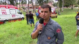 Marília: homem é resgatado de penhasco de 70 metro
