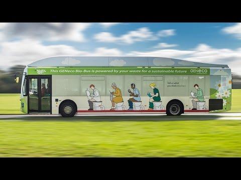 英國第一台靠人類排泄物和廚餘驅動的巴士!