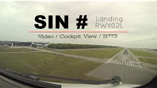Video Landing at Singapore Changi Intl airport - RWY02L (SIN-WWSS) Singapore (Cockpit view) MP3, 3GP, MP4, WEBM, AVI, FLV Juli 2018