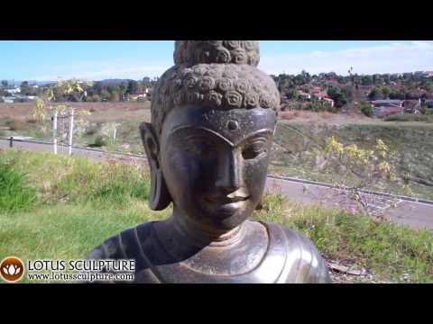 Stone Green Tone Buddha Statue 32