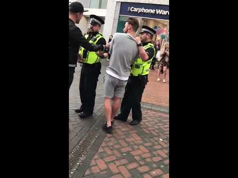 Jordan Davies, Sarah Goodhart and Josh Ritchie getting arrested in Brum! Kicks off