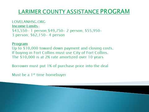 Down Payment Assistance Programs and info about Mortgage Credit Certificates