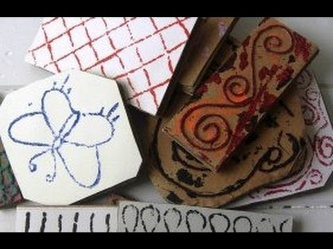 Make Your Own Stamps with Cardboard & Rope Tutorial