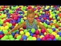 Indoor Playground Family Fun Play Area For Bad Kids Learn Colors with me & Song For Kids