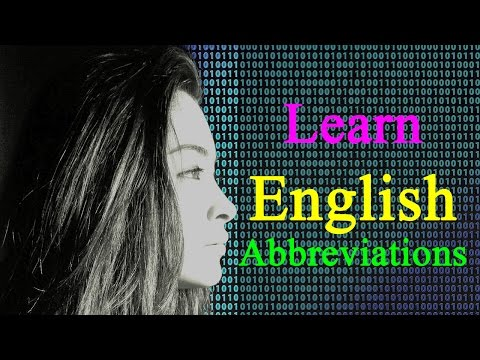 Learn English 120 important abbreviations and acronyms you should know