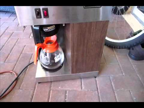 Bunn VPR Coffee maker, how does it work?