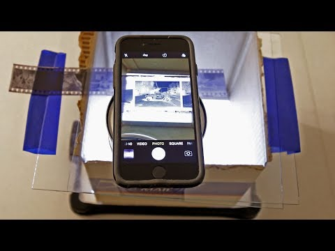 How to scan 35mm or 120 negatives without a scanner.