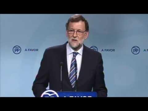 """Rajoy: """"El PP ha dado una lección de unidad como partido, de solidaridad y de solidez"""""""