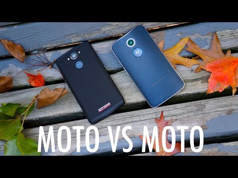 Motorola DROID Turbo vs Moto X (2014): Ballistic Nylon against Horween Leather