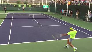 Download Video Rafael Nadal / Pablo Carreno Busta Indian Wells 2015 BNP Paribas Open 3/14/15 Practice MP3 3GP MP4