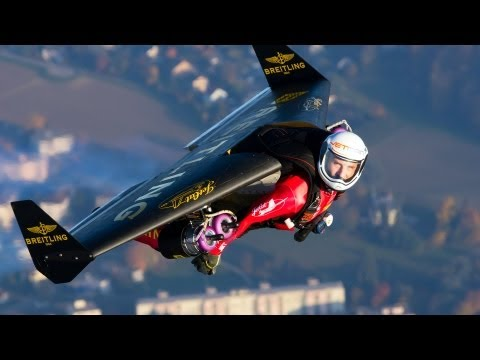 fly - http://www.ted.com Strapped to a jet-powered wing, Yves Rossy is the Jetman -- flying free, his body as the rudder, above the Swiss Alps and the Grand Canyon...