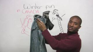 English Vocabulary - Winter Clothing