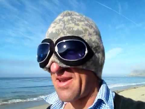 Surfer dude shows off his new invention