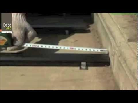 comment poser terrasse en bois composite