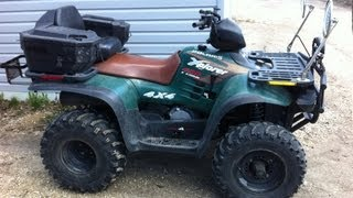 10. COLD START Polaris Xplorer 400 ( 2 Stroke 4x4 Quad )