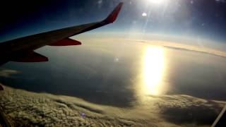 Time lapse airplane flight: San Diego (SAN) to San Francisco (SFO) and back.