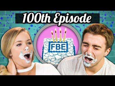 100TH EPISODE! - ICE CREAM CAKE CHALLENGE!  College Kids Vs. Food
