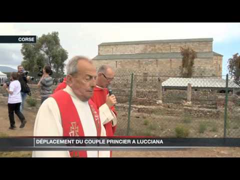 Le Couple Princier en pèlerinage à Lucciana