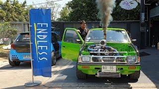 Nissan Big M ปั้มสาย เทอร์โบคู่ กระแสแรง พี่แบงค์ ปลิวลมเรชซิ่ง : รถซิ่งไทยแลนด์