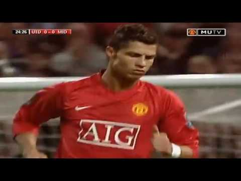 Cristiano Ronaldo V Middlesbrough Home 2008 Carling Cup