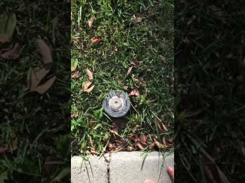How to fix sprinkler head that won't pop-up